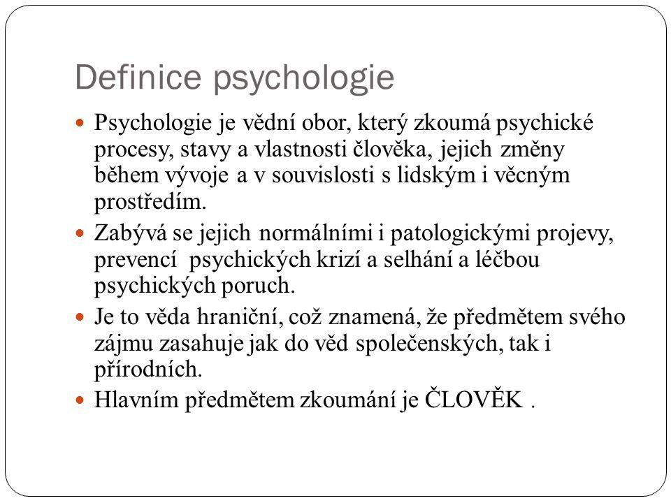 Definice psychologie