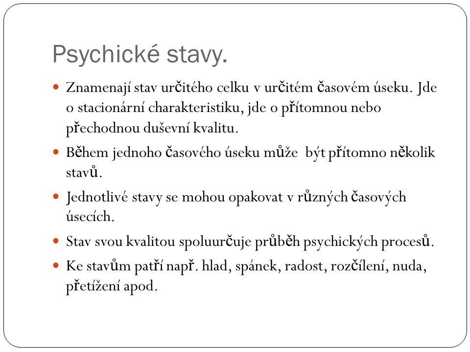 Psychické stavy.