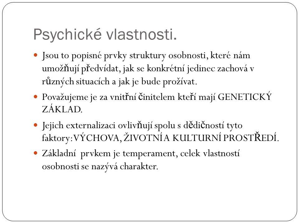 Psychické vlastnosti.