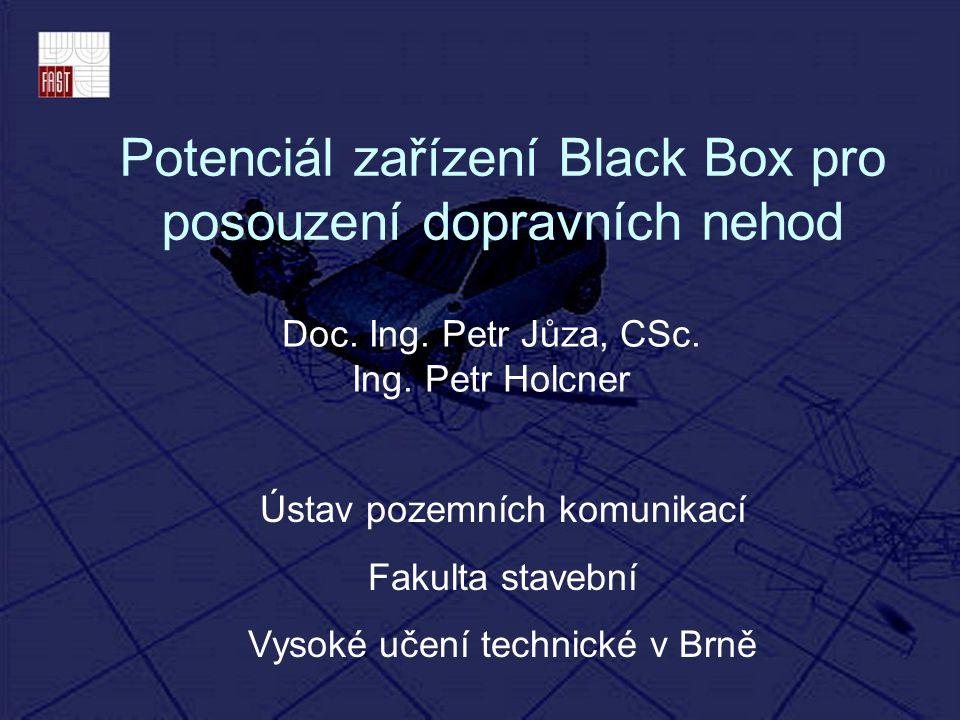 Potenciál zařízení Black Box pro posouzení dopravních nehod