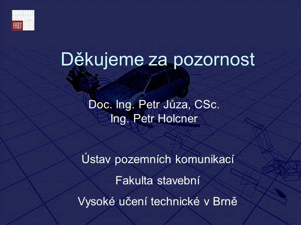 Doc. Ing. Petr Jůza, CSc. Ing. Petr Holcner