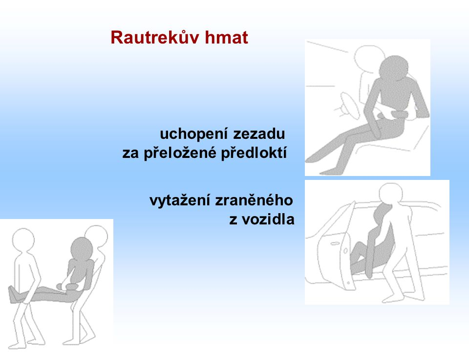 Rautrekův hmat uchopení zezadu za přeložené předloktí