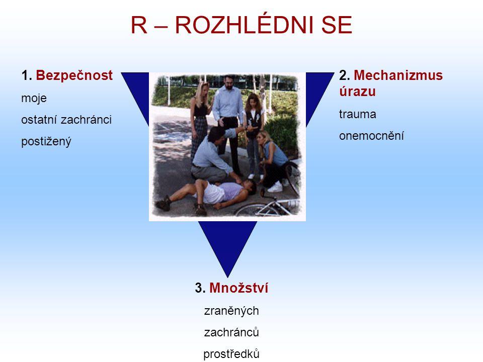 R – ROZHLÉDNI SE 1. Bezpečnost 2. Mechanizmus úrazu 3. Množství moje