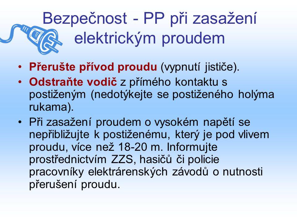 Bezpečnost - PP při zasažení elektrickým proudem