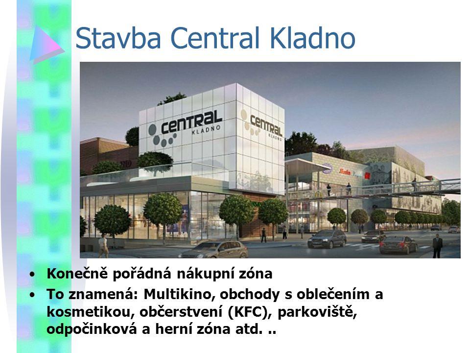 Stavba Central Kladno Konečně pořádná nákupní zóna