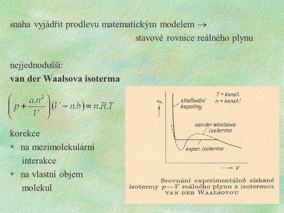 snaha vyjádřit prodlevu matematickým modelem 