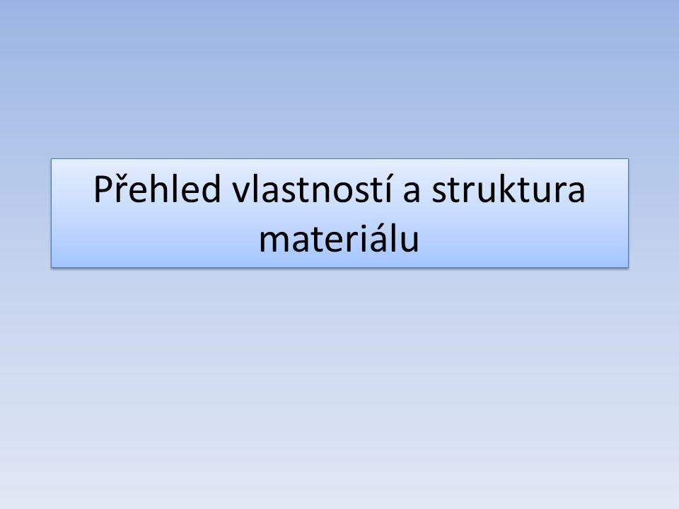 Přehled vlastností a struktura materiálu