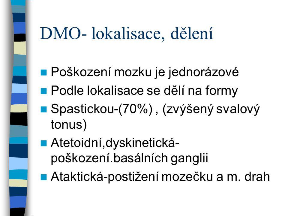 DMO- lokalisace, dělení