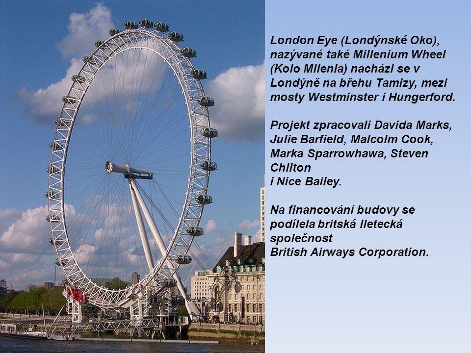 London Eye (Londýnské Oko), nazývané také Millenium Wheel (Kolo Milenia) nacházi se v Londýně na břehu Tamizy, mezi mosty Westminster i Hungerford.