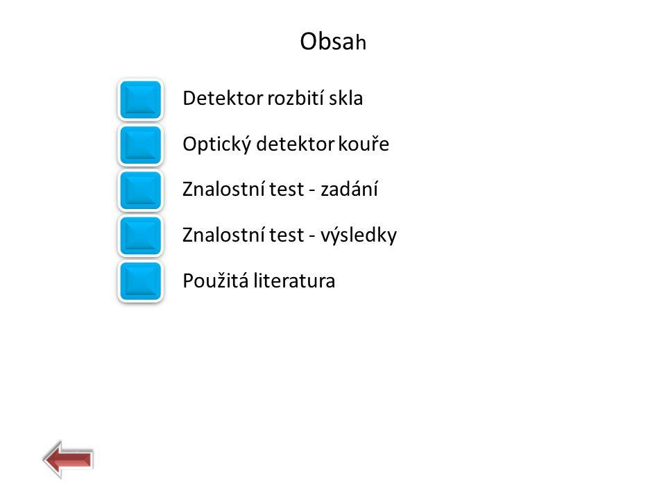 Obsah Detektor rozbití skla Optický detektor kouře