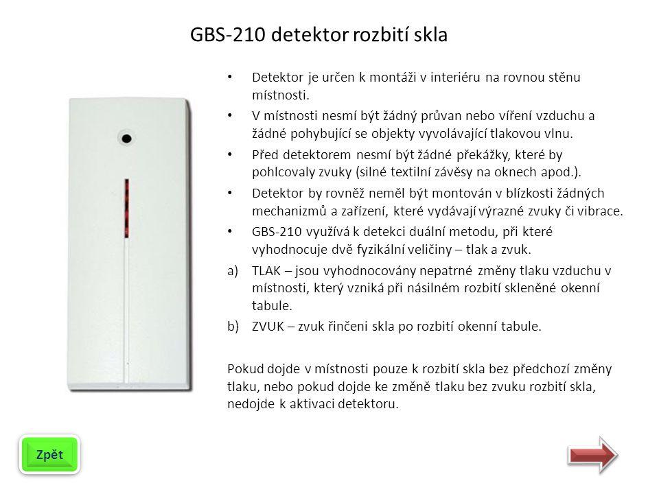 GBS-210 detektor rozbití skla