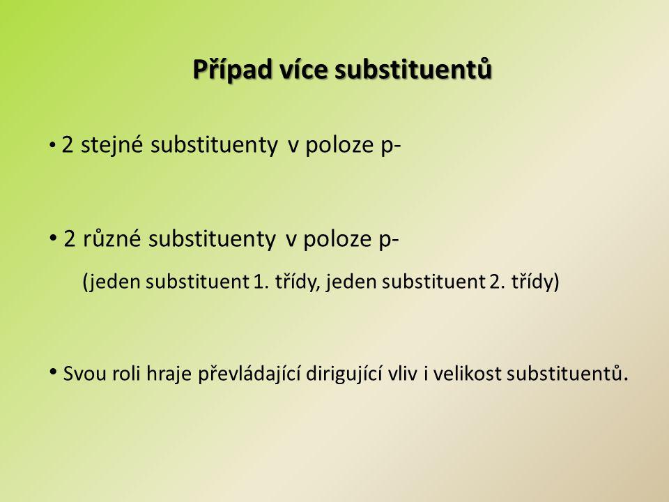 Případ více substituentů