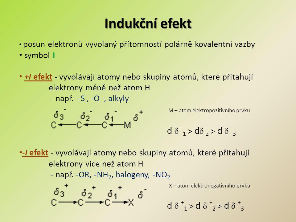 Indukční efekt symbol I