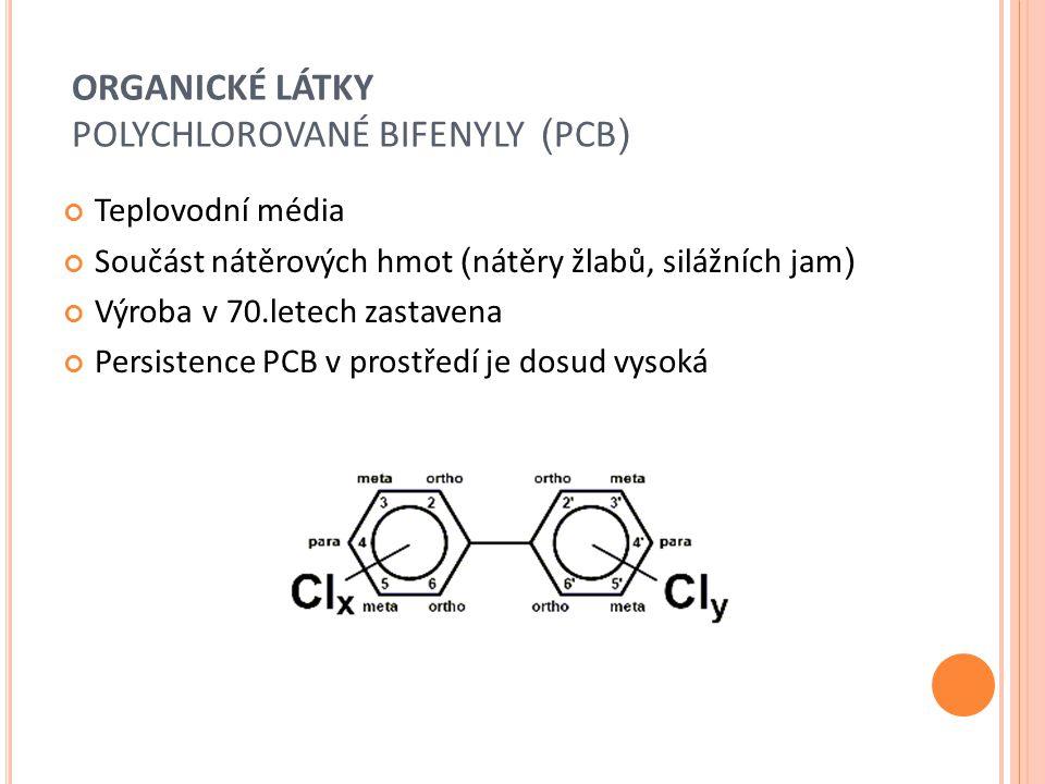 ORGANICKÉ LÁTKY POLYCHLOROVANÉ BIFENYLY (PCB)