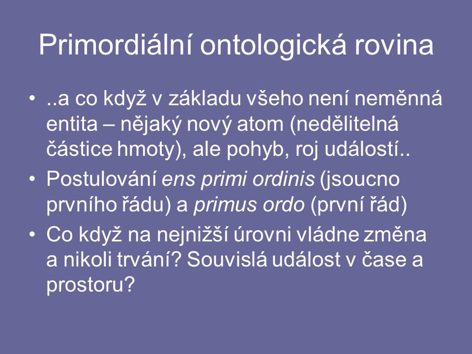 Primordiální ontologická rovina