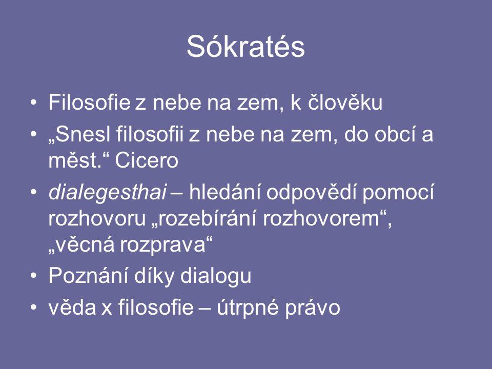 Sókratés Filosofie z nebe na zem, k člověku