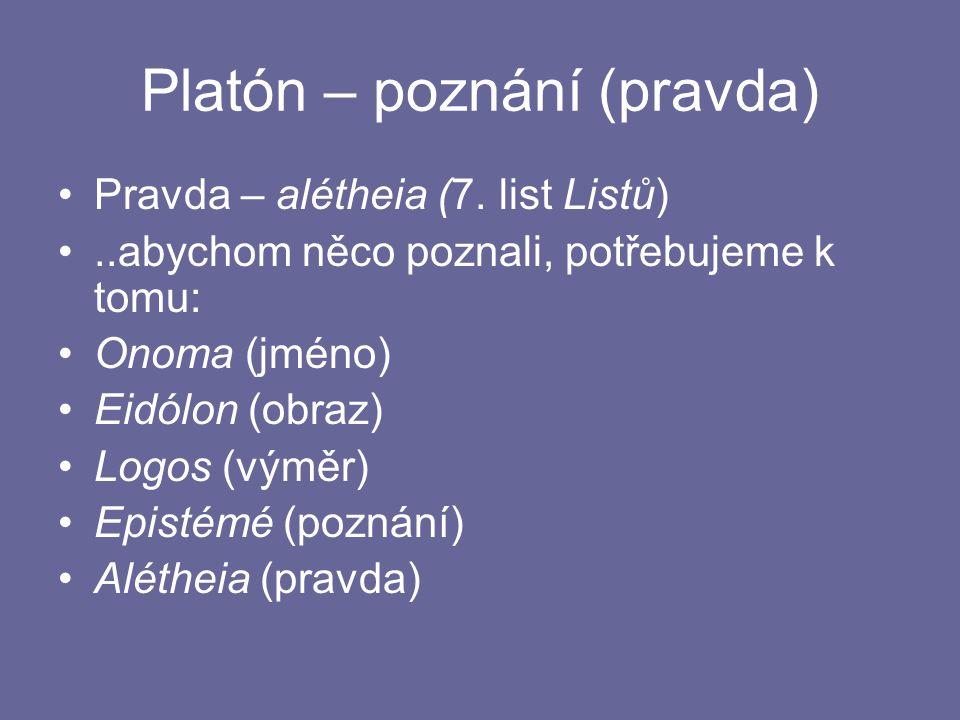 Platón – poznání (pravda)