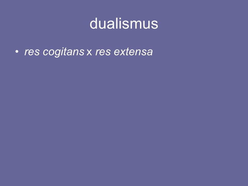 dualismus res cogitans x res extensa