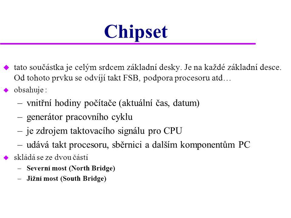 Chipset vnitřní hodiny počítače (aktuální čas, datum)