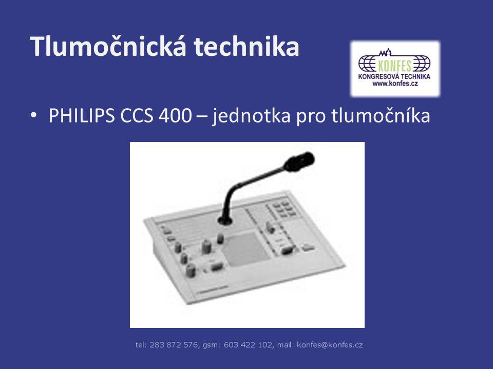Tlumočnická technika PHILIPS CCS 400 – jednotka pro tlumočníka