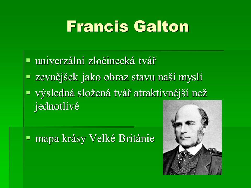 Francis Galton univerzální zločinecká tvář
