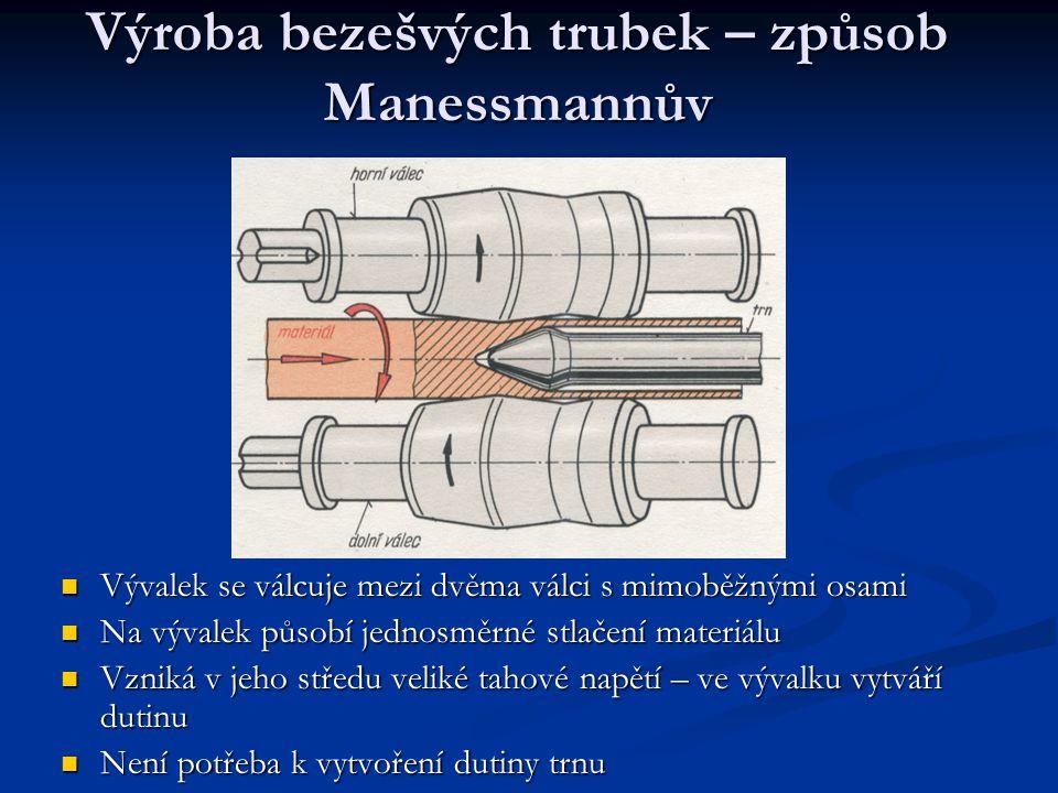 Výroba bezešvých trubek – způsob Manessmannův