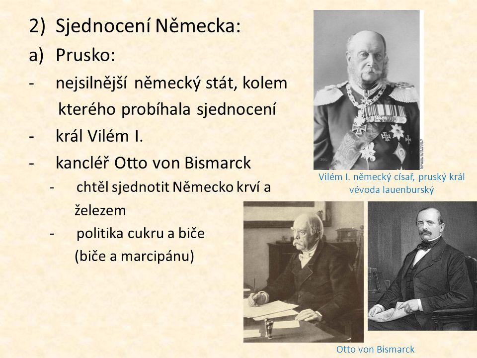 Vilém I. německý císař, pruský král vévoda lauenburský