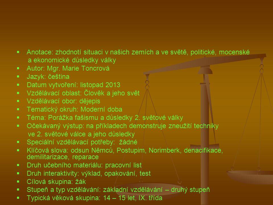 Anotace: zhodnotí situaci v našich zemích a ve světě, politické, mocenské
