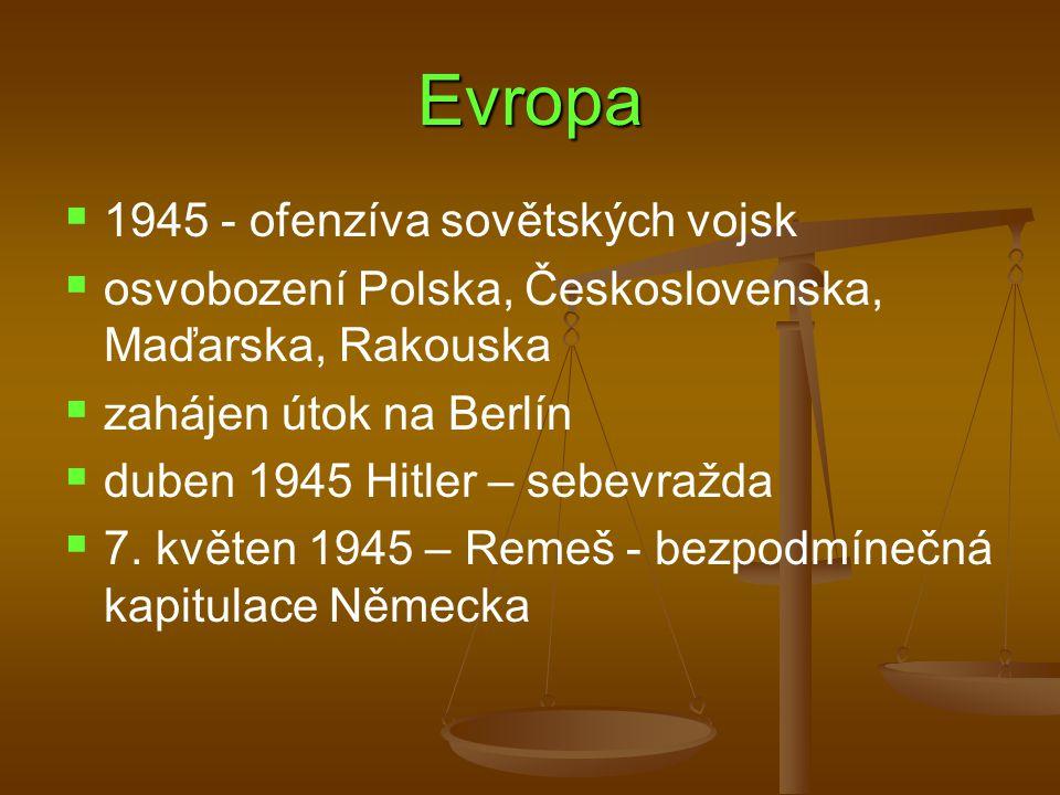 Evropa 1945 - ofenzíva sovětských vojsk