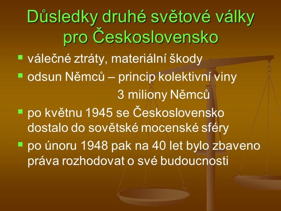 Důsledky druhé světové války pro Československo
