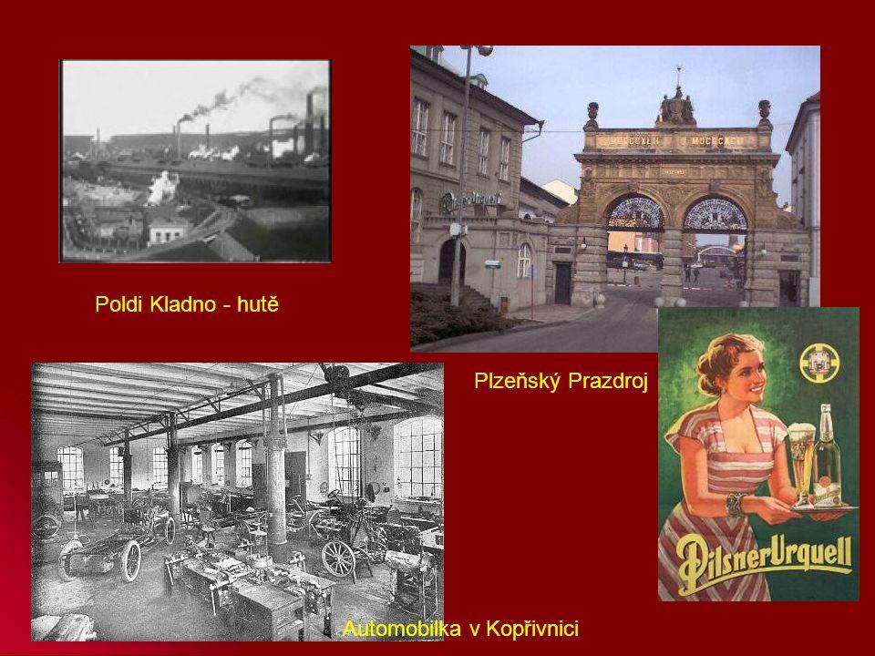 Poldi Kladno - hutě Plzeňský Prazdroj Automobilka v Kopřivnici