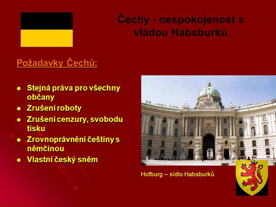 Čechy - nespokojenost s vládou Habsburků
