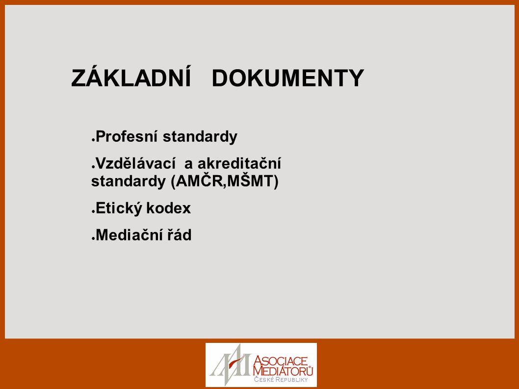 ZÁKLADNÍ DOKUMENTY Profesní standardy