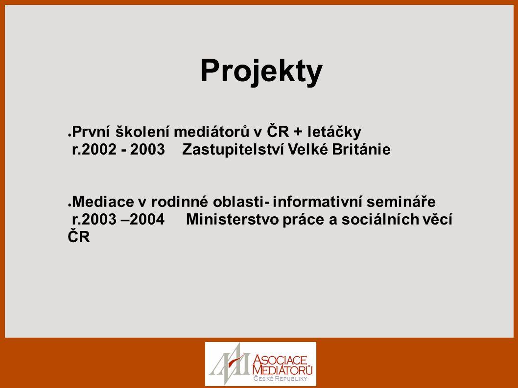 První školení mediátorů v ČR + letáčky