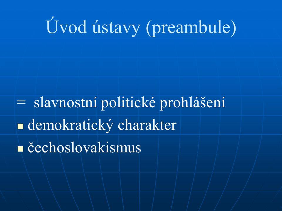 Úvod ústavy (preambule)