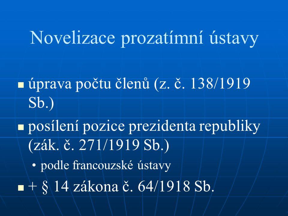 Novelizace prozatímní ústavy