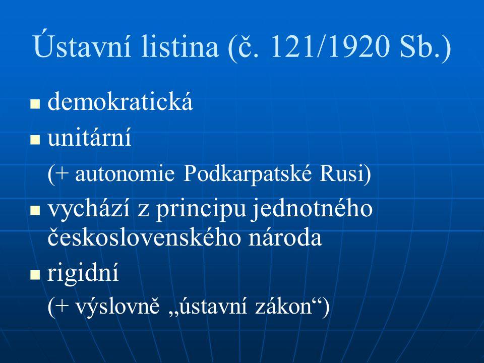 Ústavní listina (č. 121/1920 Sb.)