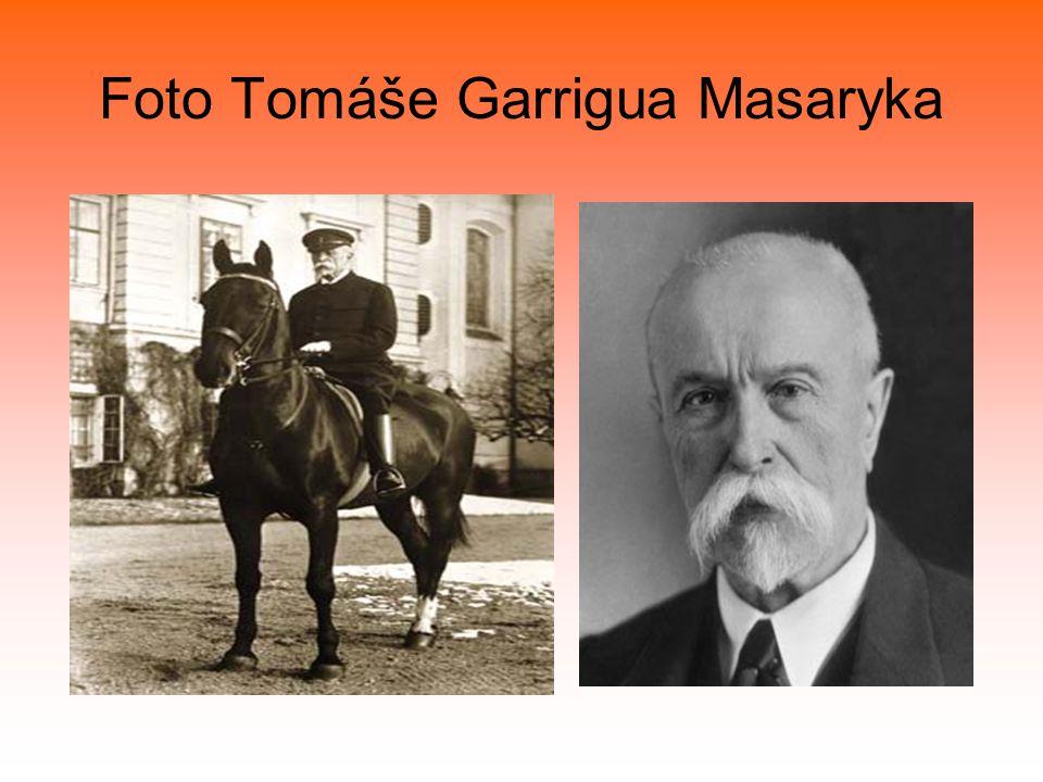 Foto Tomáše Garrigua Masaryka