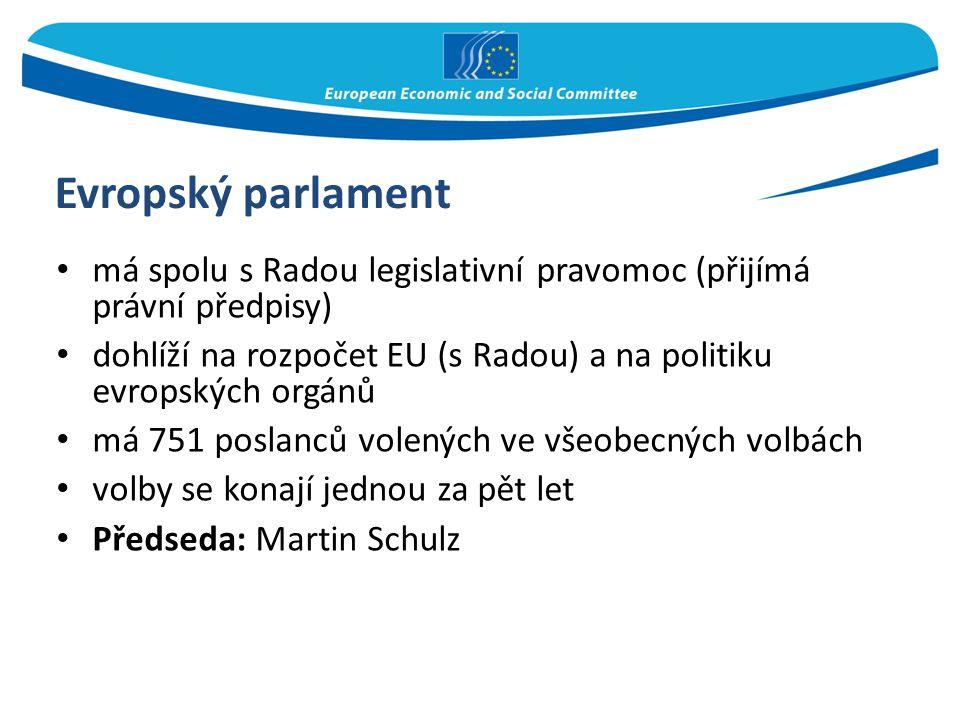 Evropský parlament má spolu s Radou legislativní pravomoc (přijímá právní předpisy) dohlíží na rozpočet EU (s Radou) a na politiku evropských orgánů.