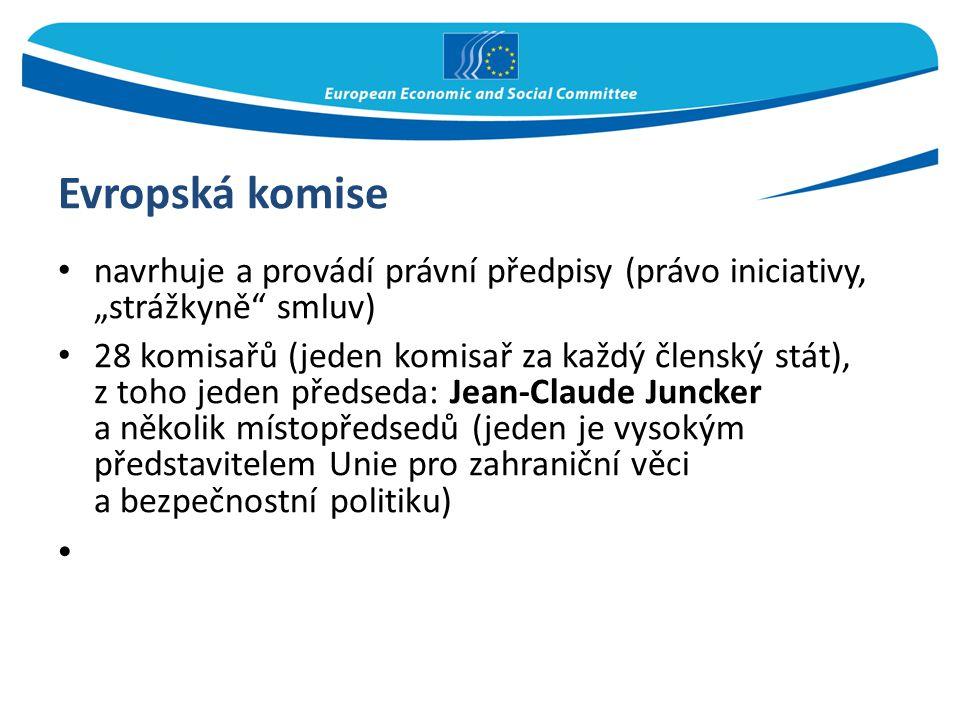 """Evropská komise navrhuje a provádí právní předpisy (právo iniciativy, """"strážkyně smluv)"""