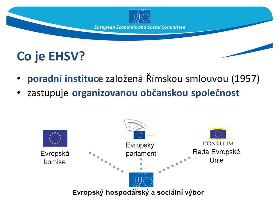 Co je EHSV poradní instituce založená Římskou smlouvou (1957)