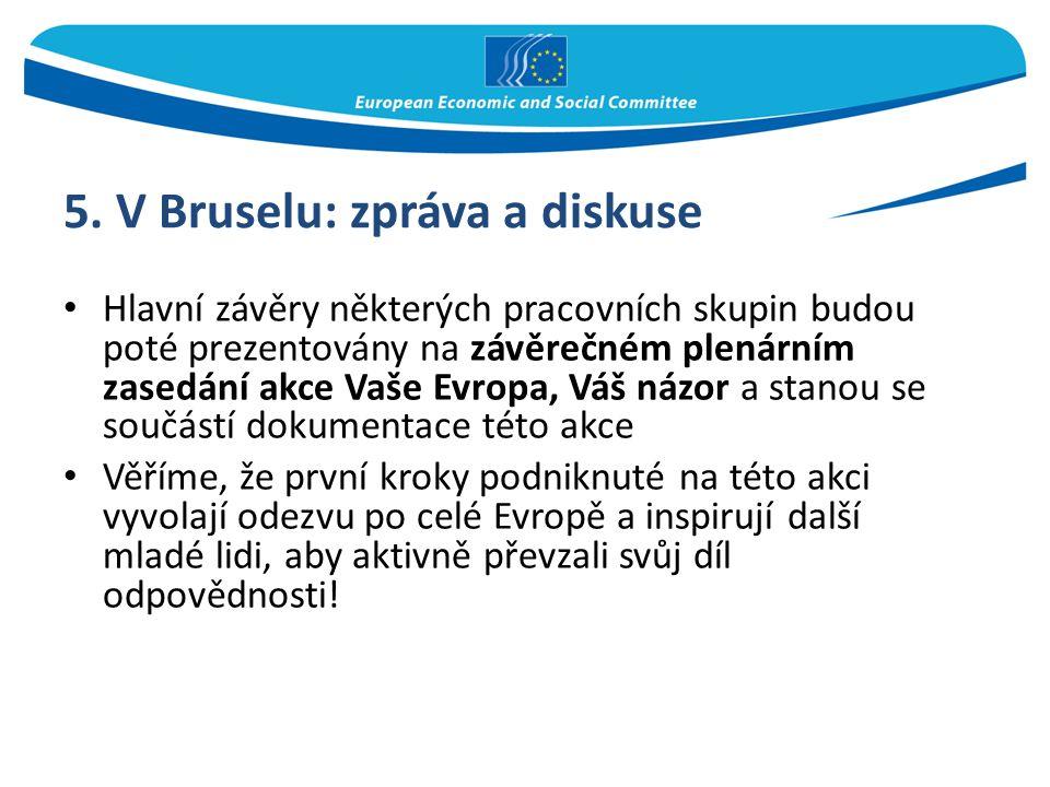 5. V Bruselu: zpráva a diskuse