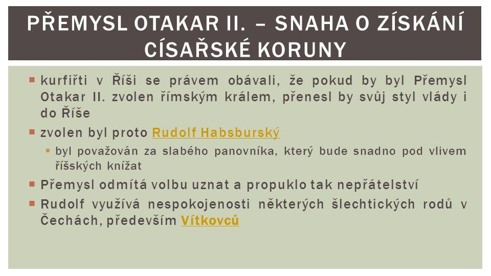 Přemysl Otakar II. – Snaha o získání císařské koruny