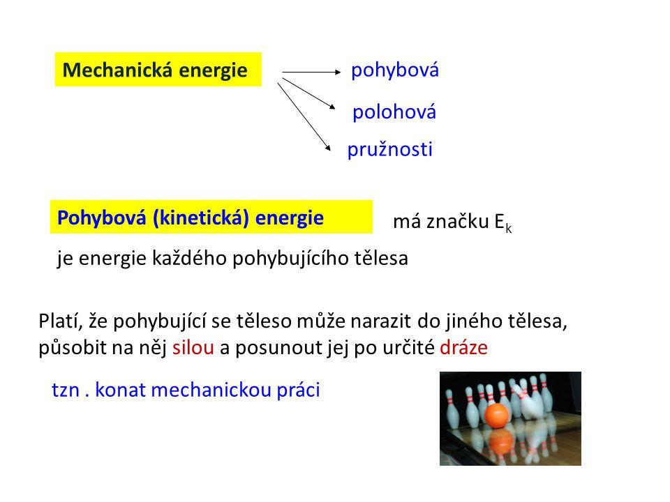 Pohybová (kinetická) energie