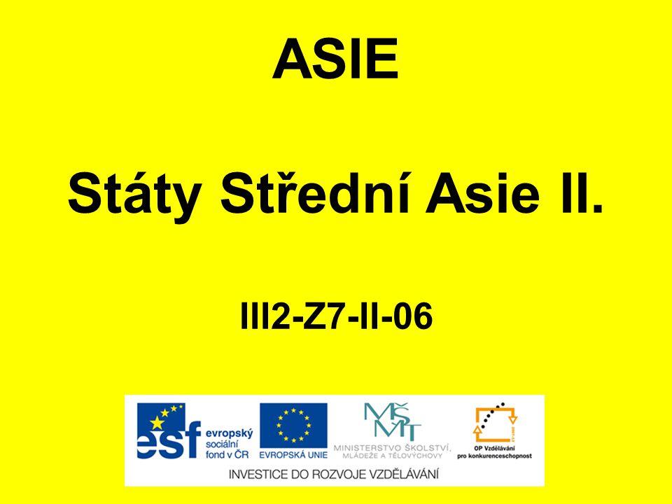 ASIE Státy Střední Asie II.