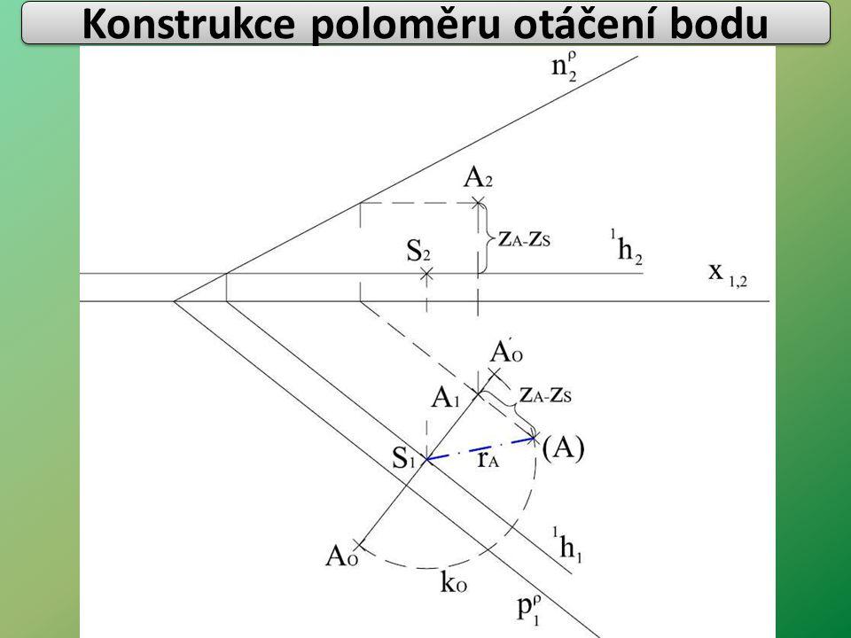 Konstrukce poloměru otáčení bodu