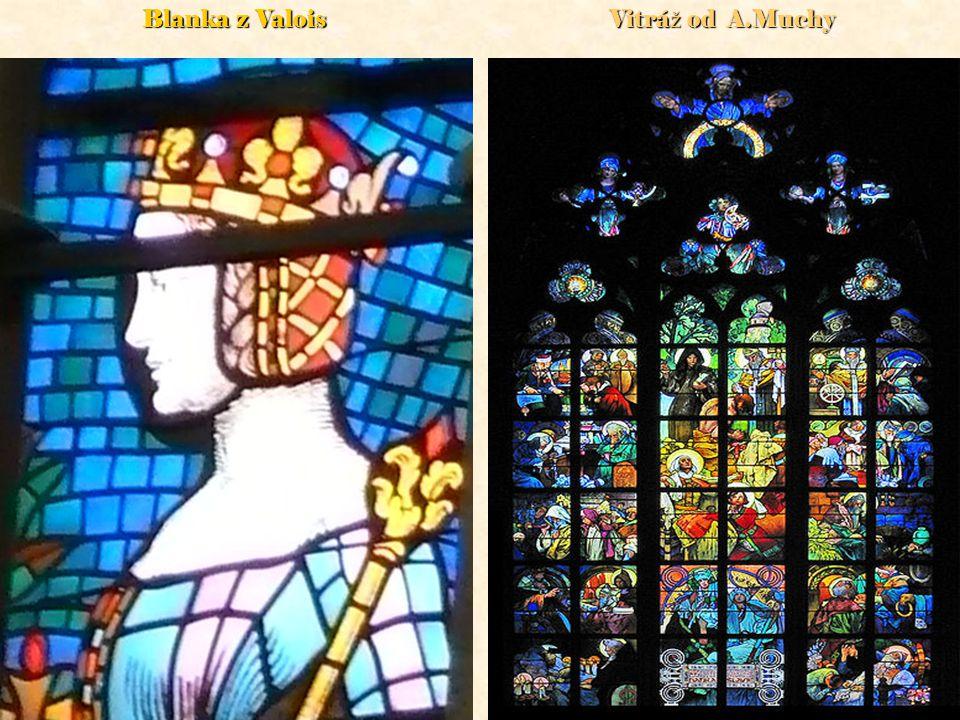Blanka z Valois Vitráž od A.Muchy