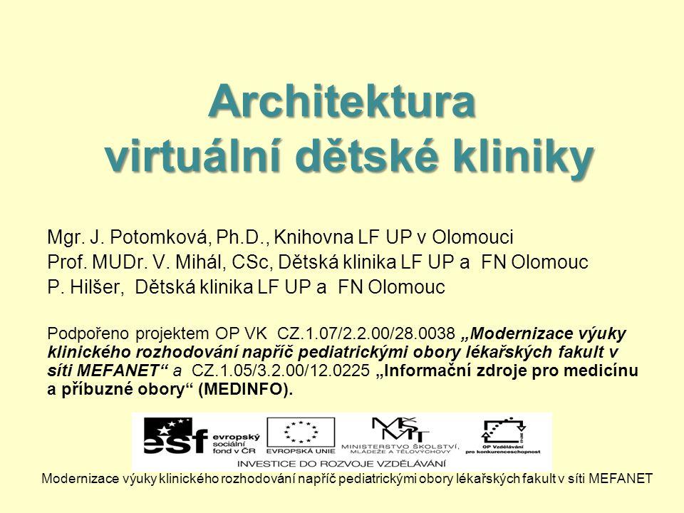 Architektura virtuální dětské kliniky