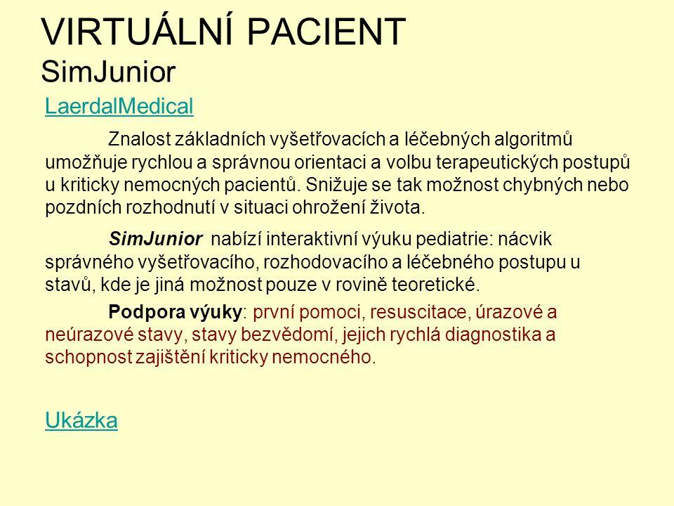 VIRTUÁLNÍ PACIENT SimJunior
