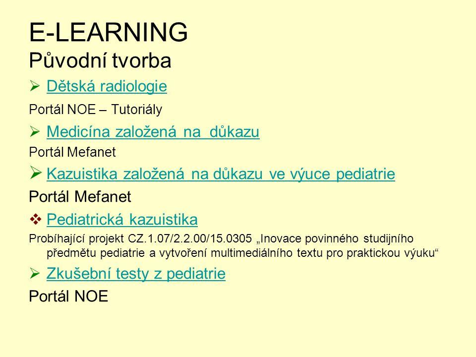 E-LEARNING Původní tvorba